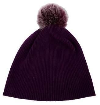 9b4cff3b88ee5b Sofia Cashmere Cashmere Fur-Trimmed Knit Beanie