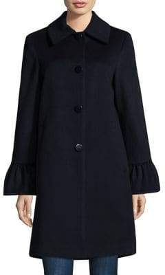 Sofia Cashmere Shirred Sleeve Coat