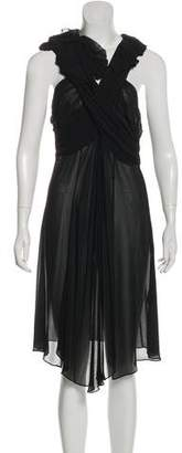 AllSaints Sleeveless Silk Midi Dress