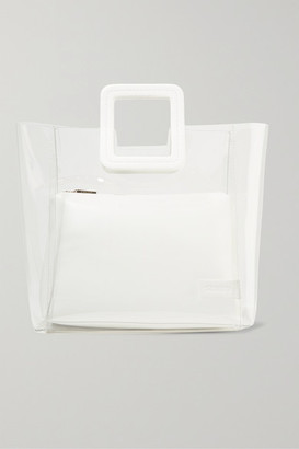 STAUD Shirley Pvc And Leather Tote - White