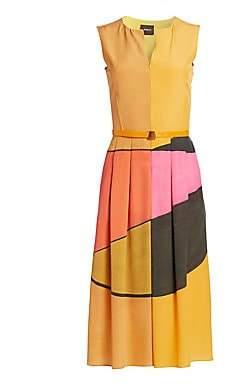 Akris Women's Sleeveless Sunrise Print Dress