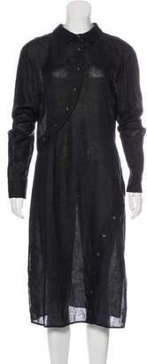 Altuzarra Long Sleeve Button-Up Dress