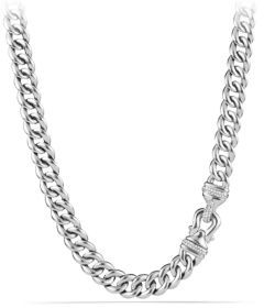 David Yurman Cable Buckle Chain Necklace with Diamonds $1,750 thestylecure.com