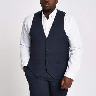 River Island Mens Big and Tall navy vest