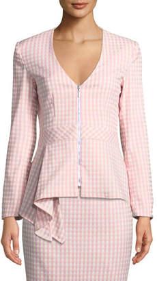 Nanette Lepore Grand Hotel Asymmetric-Peplum Jacket