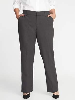 Old Navy Mid-Rise Secret-Slim Pockets + Waistband Plus-Size Double-Weave Harper Trousers