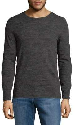Strellson Heathered Long-Sleeve Cotton Tee