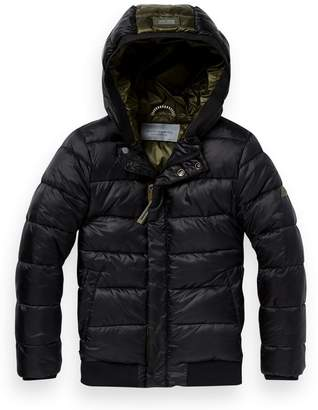 Scotch & Soda Hooded Puffer Jacket