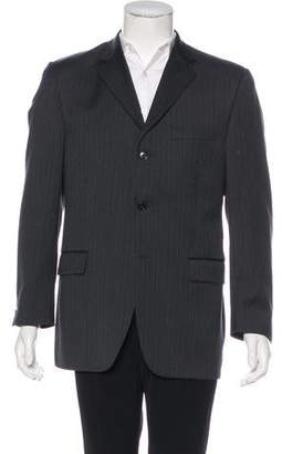Burberry Striped Wool Blazer