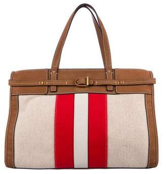 Tory Burch Canvas & Suede Striped Tote