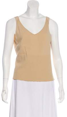 7fe07e803437f Max Studio Open Knit-Accented Sleeveless Top