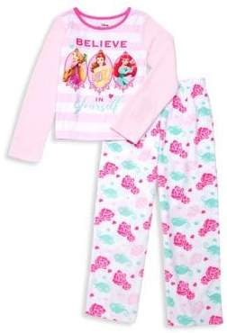 AME Sleepwear Girl's Two-Piece Disney Princess Pajama Set
