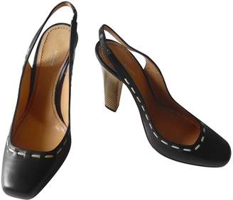 Pollini Black Leather Heels
