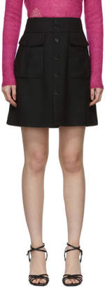 Saint Laurent Black Gabardine High-Waisted Miniskirt