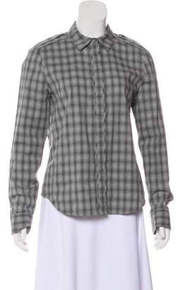 J Brand Check Button-Up Top