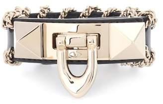 Valentino Rockstud embellished leather bracelet