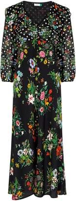 Rixo Bonnie Floral-print Silk Dress