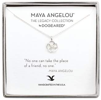 """Dogeared Maya Angelou Legacy Collection """"No One Can Take the Place of a Friend"""" Necklace, 16"""""""
