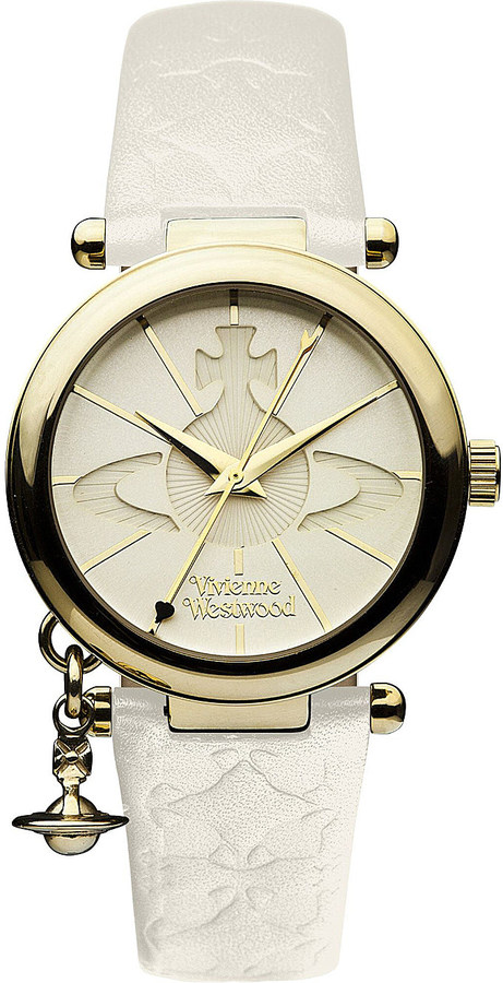 Vivienne Westwood Vivienne Westwood VV006WHWH gold-toned leather watch