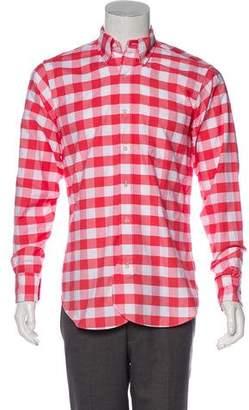 Black Fleece Gingham Woven Shirt
