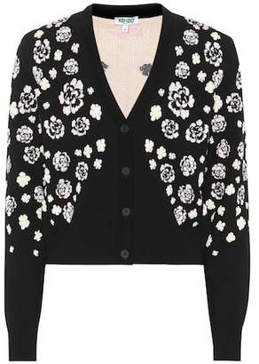 Kenzo Floral cotton-blend cardigan
