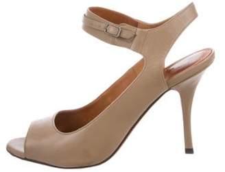 Lanvin Leather Slingback Sandals Tan Leather Slingback Sandals