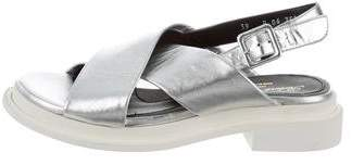 Robert Clergerie Metallic Slingback Sandals