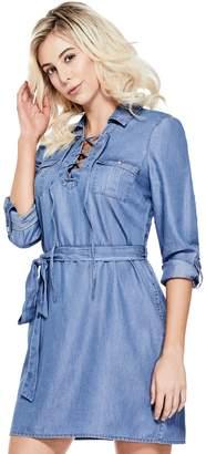 Factory Guess Women's Lenora Chambray Shirtdress