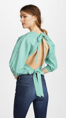 MDS Stripes Open Back Top