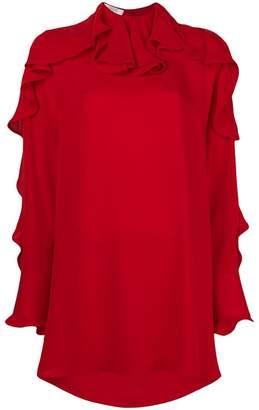 Valentino ruffled neck dress