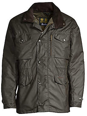 Barbour Men's Hooded Waxed Jacket