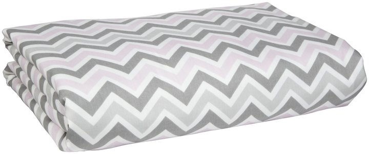 New Arrivals Inc. New Arrivals Twin Duvet Peace, Love & Pink - Pink/ Gray