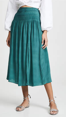 Sea Hemmingway Micro Pleated Midi Skirt
