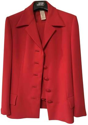 Gianni Versace Red Wool Jacket for Women