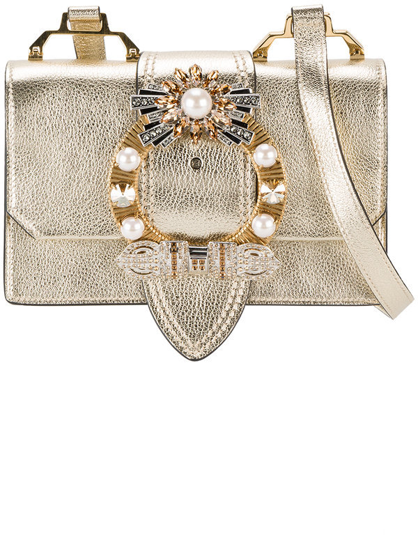 Miu MiuMiu Miu Madras crystal embellished bag