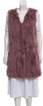 La Fiorentina Sleeveless Fur Vest