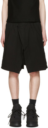 Julius Black Wrap Layered Shorts $610 thestylecure.com