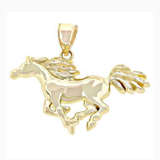 FINE JEWELRY 14K Yellow Gold Running Horse Charm Pendant