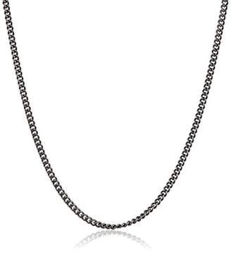 Pyrrha Unisex Blackened Sterling Silver 40 ga Round Curb Chain of 46 cm