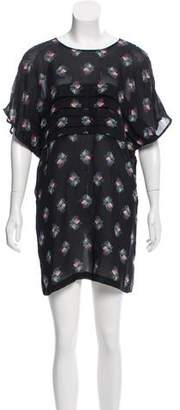 Rachel Comey Silk Floral Print Dress