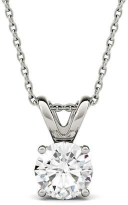 Charles & Colvard Moissanite Solitaire Pendant (1-9/10 ct. t.w. Diamond Equivalent) in 14k White Gold