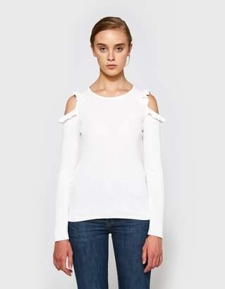 Farrow Charlie Ruffle Sweater in Cream