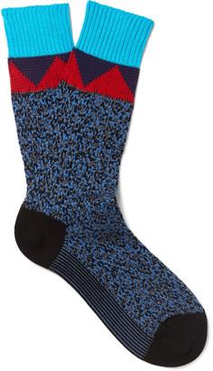 Prada Mélange Knitted Cotton Socks $210 thestylecure.com