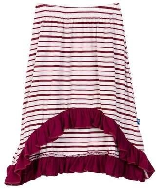 Kickee Pants Print Hi-Lo Skirt in Girl Animal Stripe (Baby, Toddler, Little Girls, & Big Girls)