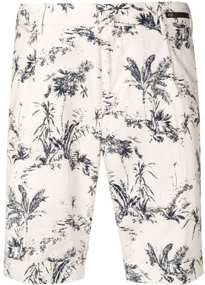 Pt01 floral fitted shorts