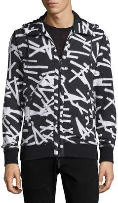 Madison Supply Men's Printed Elongated Hoodie