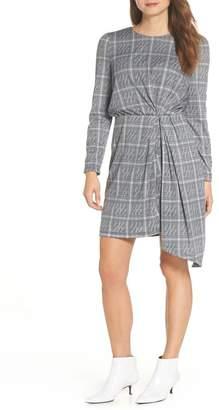 Maggy London Plaid Side Drape Dress (Regular & Petite)