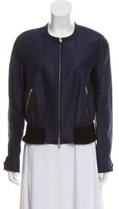 3.1 Phillip Lim Chambray Zip-Up Jacket