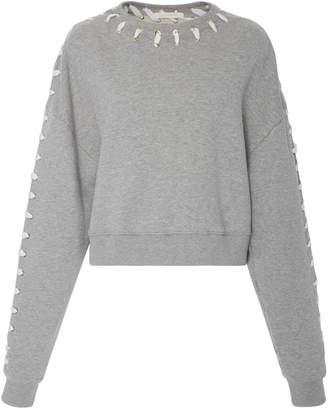 Jonathan Simkhai Whip Stitch Crop Sweater