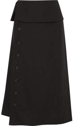 Jil Sander Satin Midi Skirt - Black